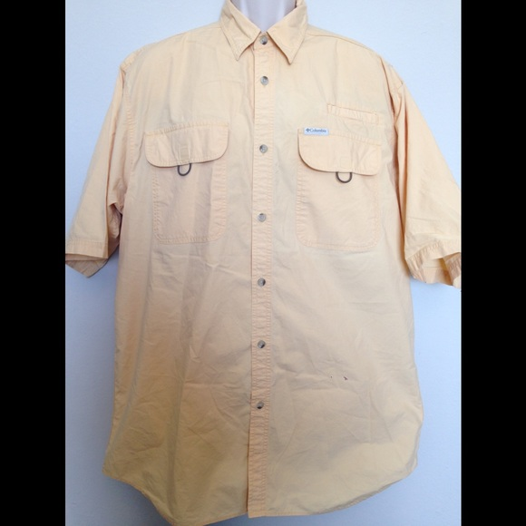 c66612680 Columbia yellow fishing hiking shirt Tall Large